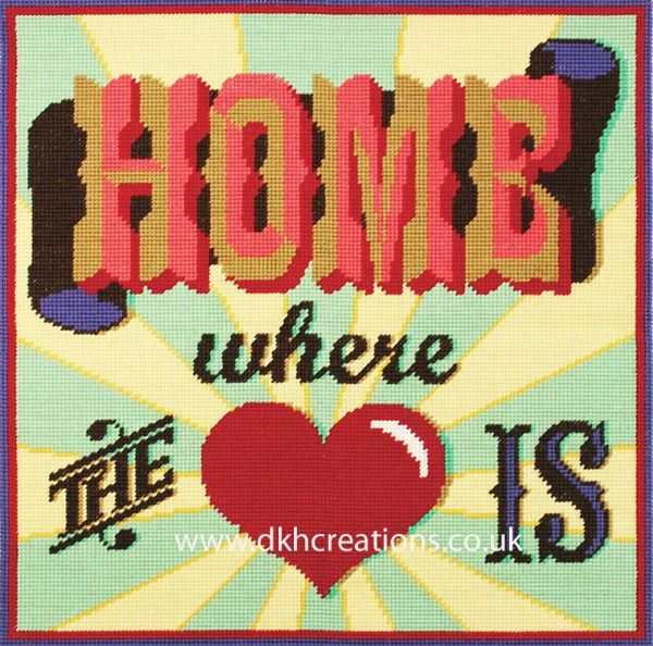 Home Where The Heart Is Cushion Front Tapestry Kit